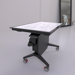 Volanti Displays Touch Screen Table With Lift And Tilt Base