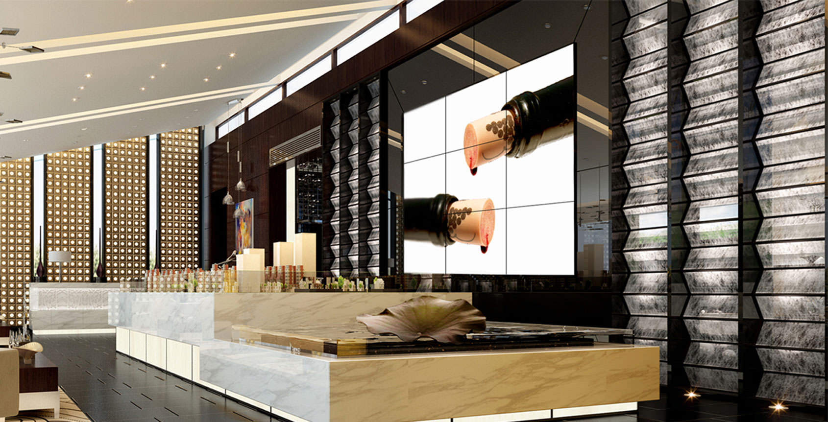 Video Wall Design find this pin and more on retail design other Music Events