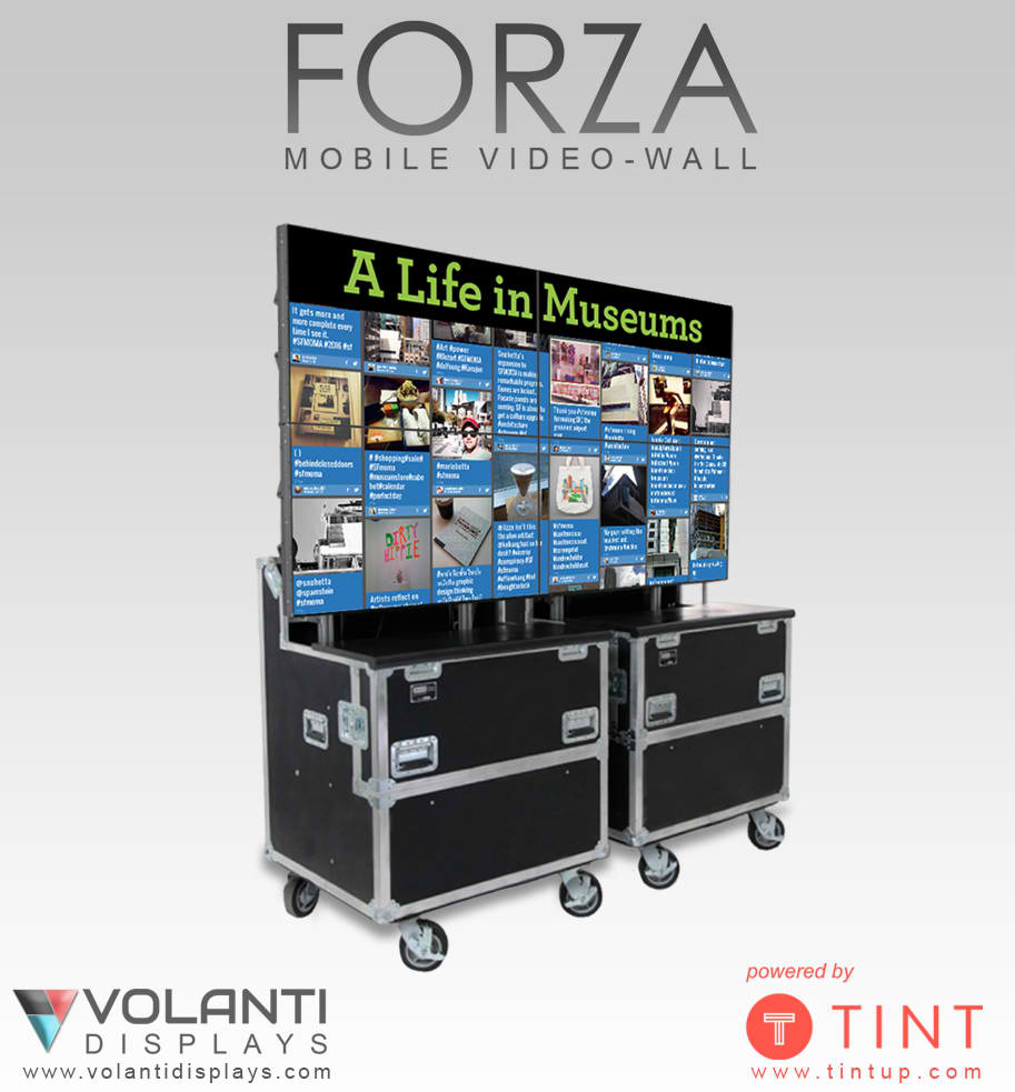 Volanti mobile display with Tint social media